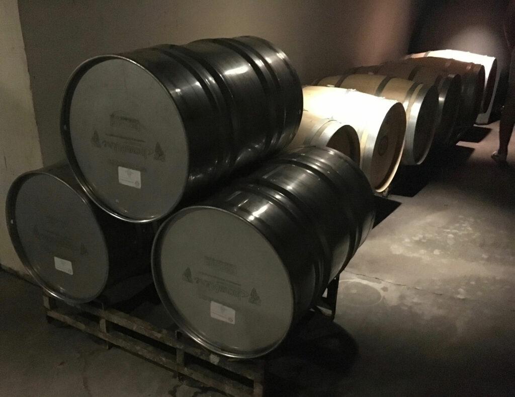 Williamsburg Winery White Wine Cellar Stainless Wood Casks