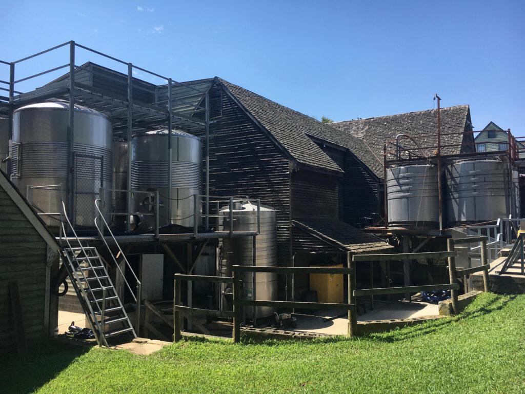 Williamsburg Winery Wine Press And Storage Tanks
