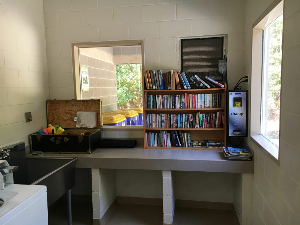 chippokes plantation state park campground laundry room book exchange