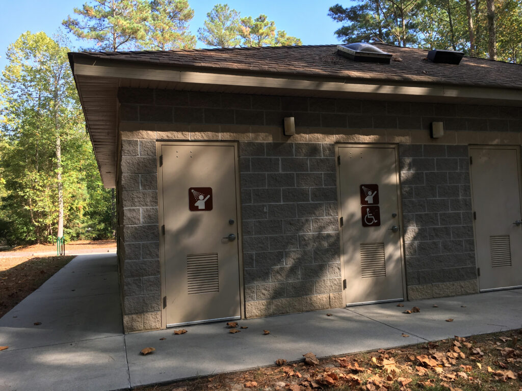 chippokes plantation state park campground shower entrance