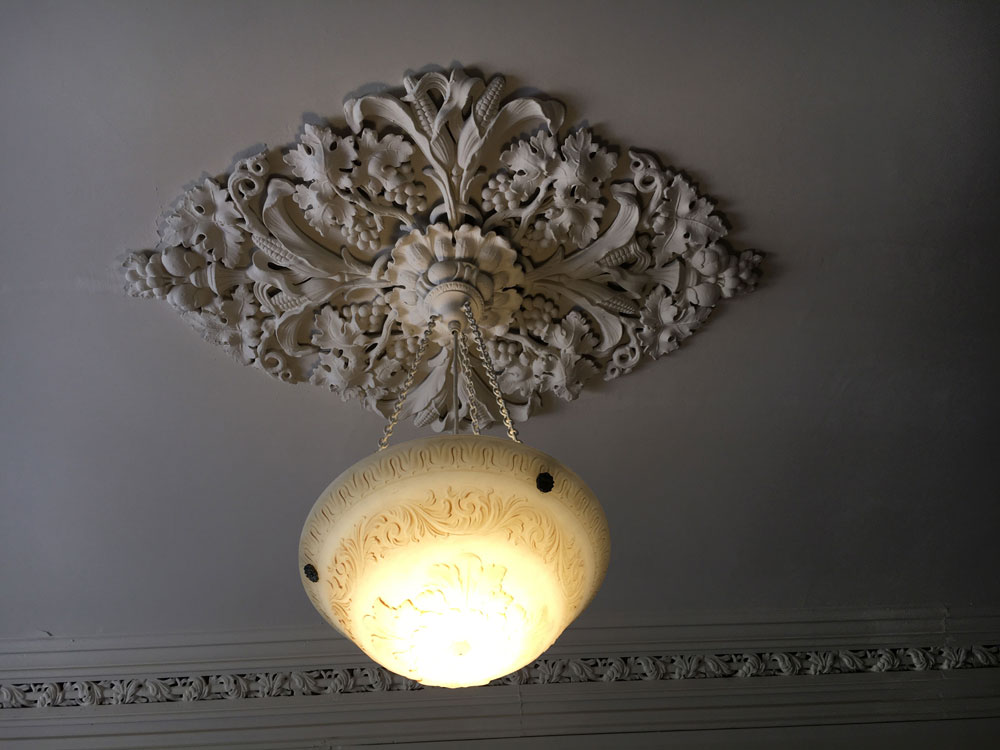 Chippokes State Park Jones Stewart Mansion Ceiling Light Medallion