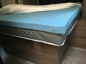 Novaform Three Inch Memory Foam Mattress Topper Shown in Grand Design Transcend 28MKS