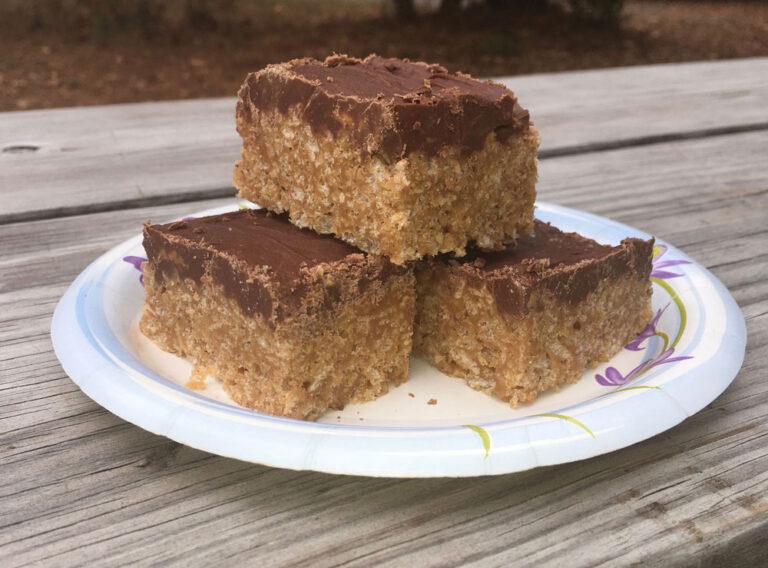 Scotcheroos Easy No Bake Dessert For Camping