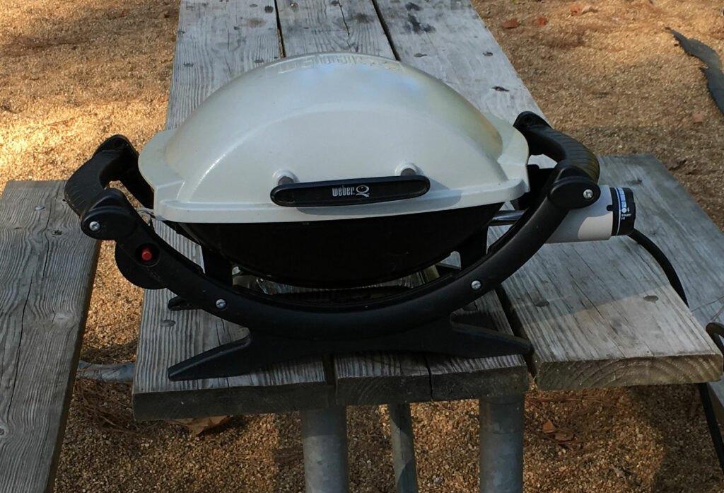 Camping Grill Setup WeberQ Small Gas Grill