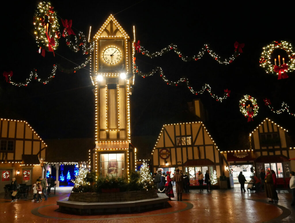 Busch Gardens Williamsburg Christmas Town Clock