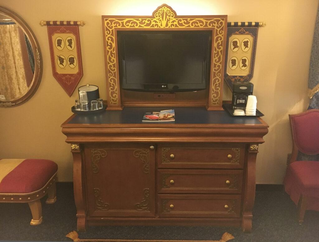 Disney Port Orleans Riverside Room TV Coffee Maker