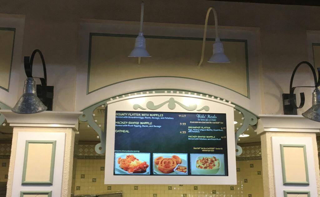 Disneys Port Orleans Riverside Resort Dining Breakfast Sign