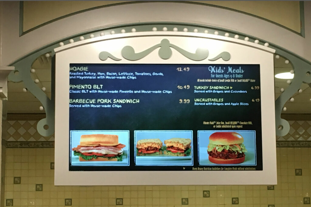 Disneys Port Orleans Riverside Resort Dining Dinner Sign