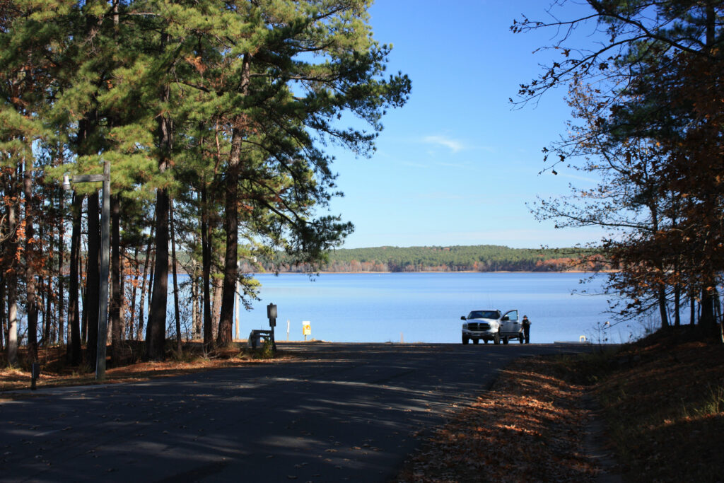 Falls Lake Rolling View Campground Boat Launch