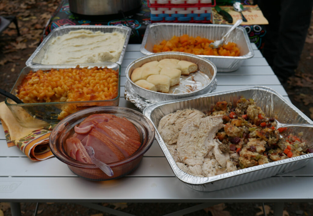Thanksgiving In The Woods Thanksgiving Dinner