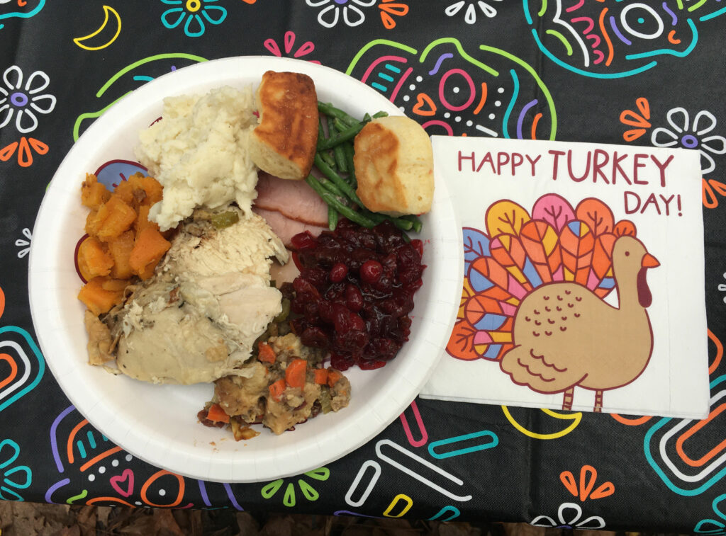 Thanksgiving In The Woods Thanksgiving Dinner Plate
