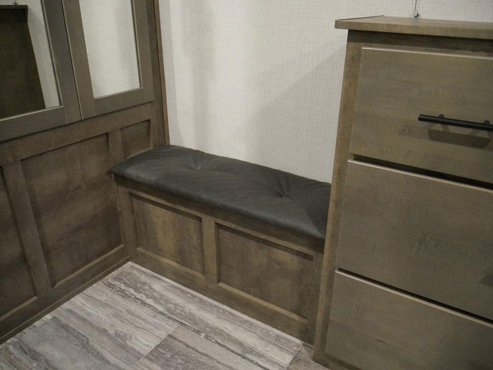 RV Show RV Innovation Bedroom Bench At Tidewater RV Show