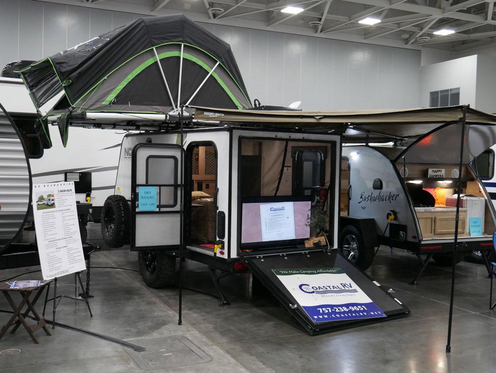 NOBO Small Toy Hauler Camper Tidewater RV Show 2020 RV Innovation