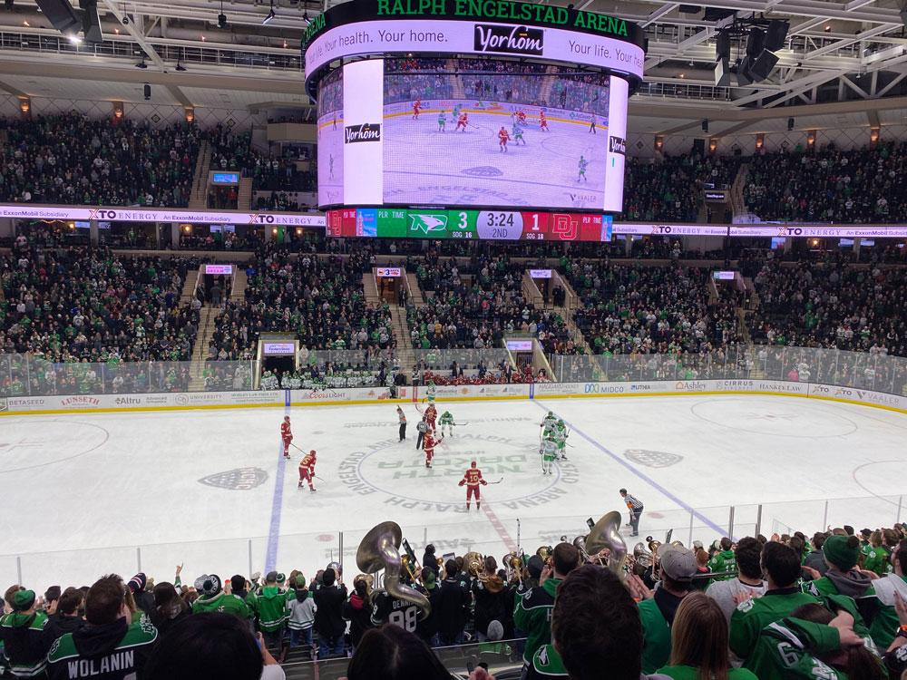 University of North Dakota Hockey in Grand Forks