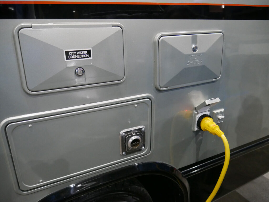 Camper Water Over Electric Connection On Display At Richmond RV Show 2020
