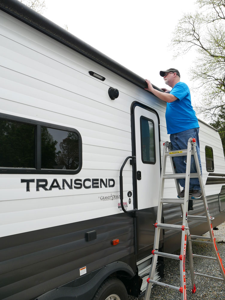 Using a Little Giant Ladder to Inspect RV Roof