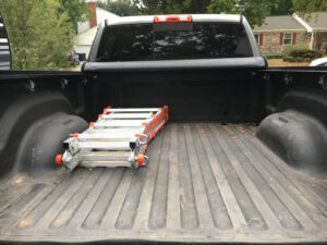 Little Giant Ladder In Truck Bed