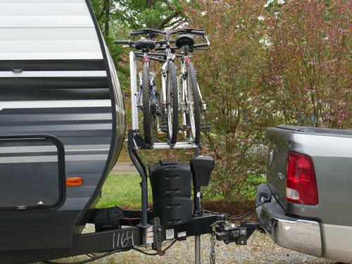 Arvika RV Bike Rack Side View With Bikes Loaded Shown in Arvika Bike Rack Review