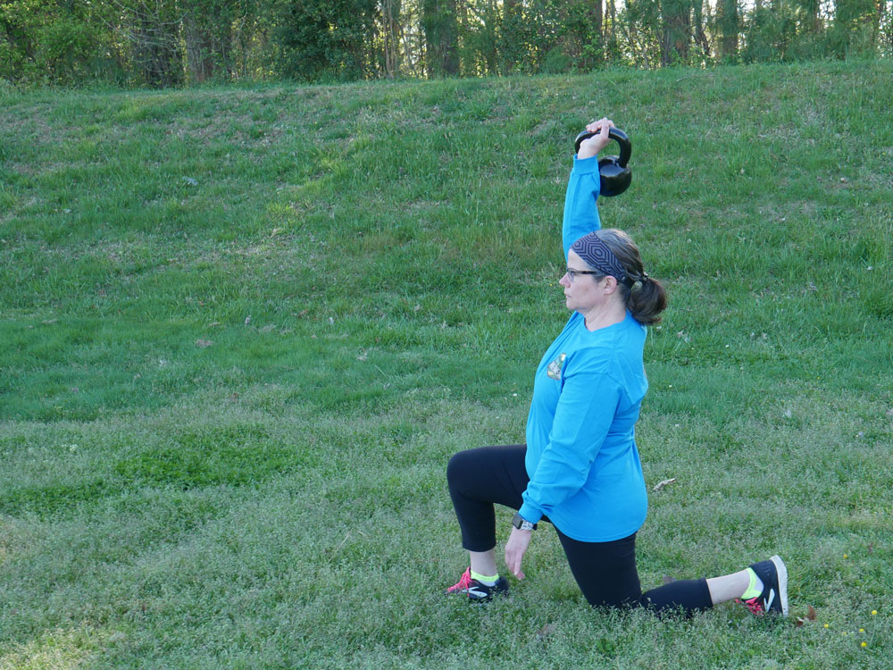 Walking Lunges With Kettlebell