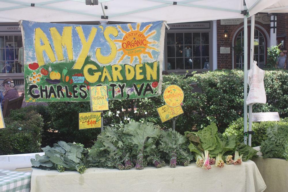 Fresh Organic Produce at Williamsburg Farmers Market Williamsburg VA