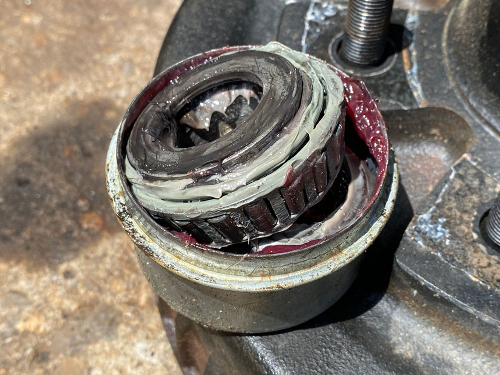 Bearing Repack Issue Pink and Gray Grease