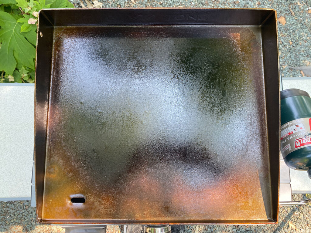 Blackstone griddle after seasoning