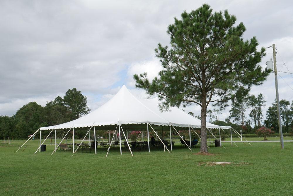 Tent Shelter at Good Luck Cellars Kilmarnock VA