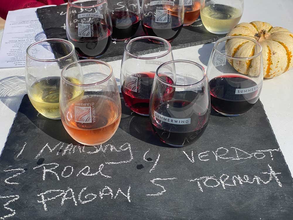 SummerWind Vineyard Wine Sampler Flight