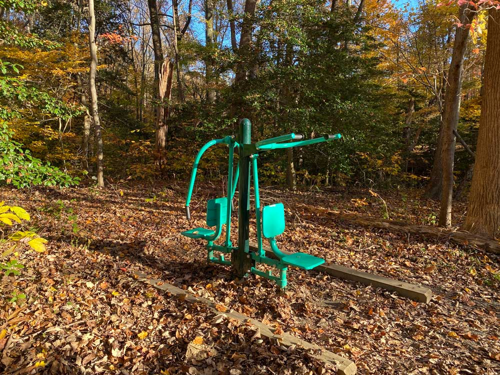 Westmoreland State Park Hiking Trail Exercise Equipment