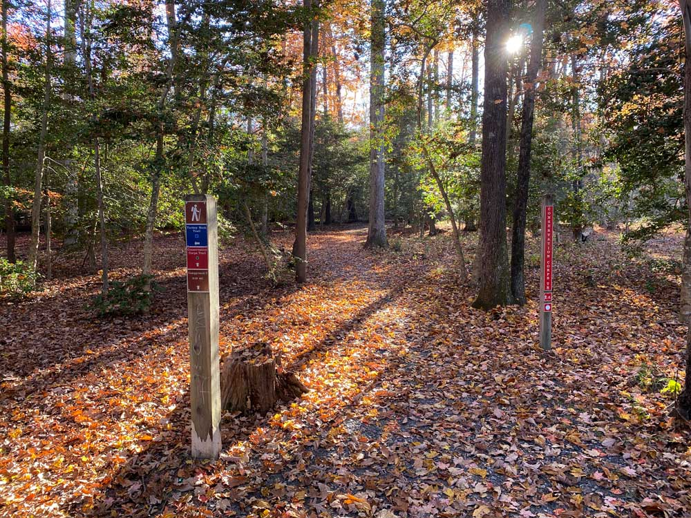 Westmoreland State Park Hiking Trail Sign