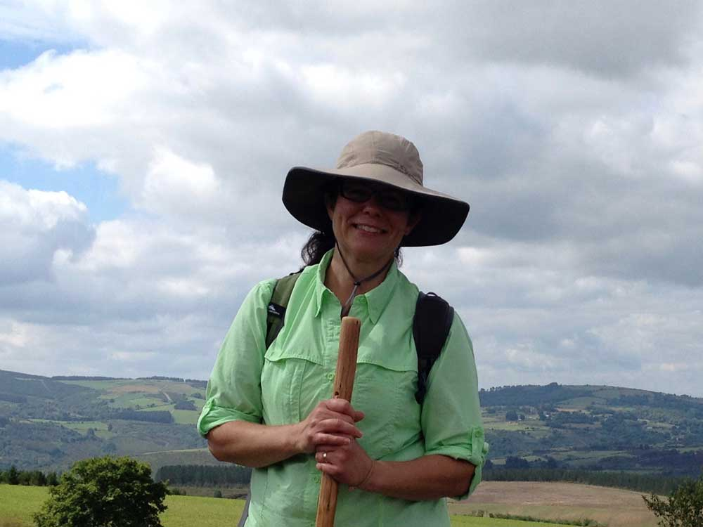 Judy Hiking on the Camino