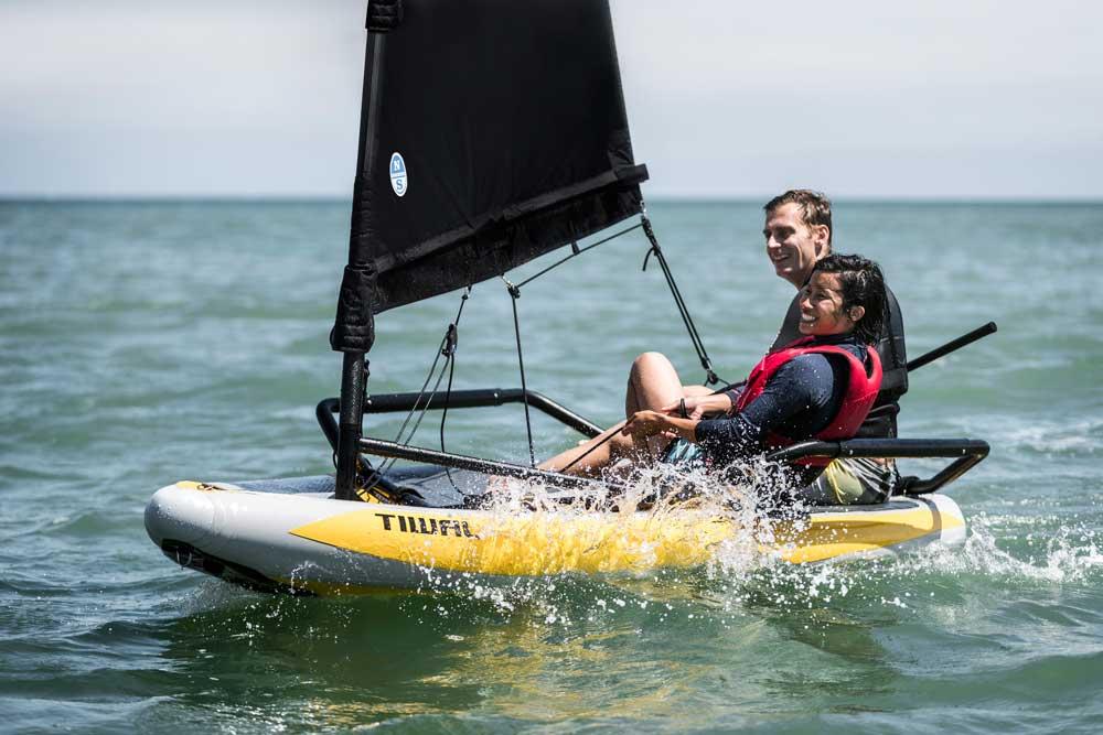 Tiwal 3 Sailboat With 2 Adults Sailing