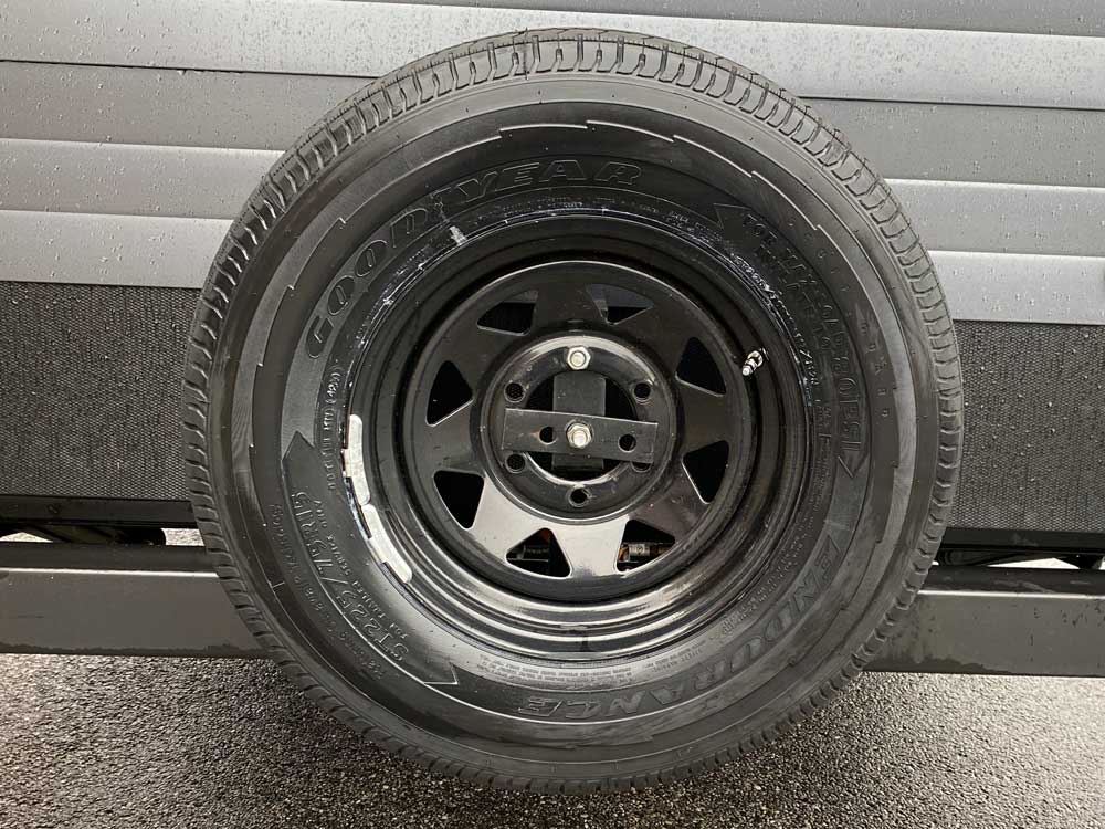 Goodyear Travel Trailer Tire Spare Mounted on Rear