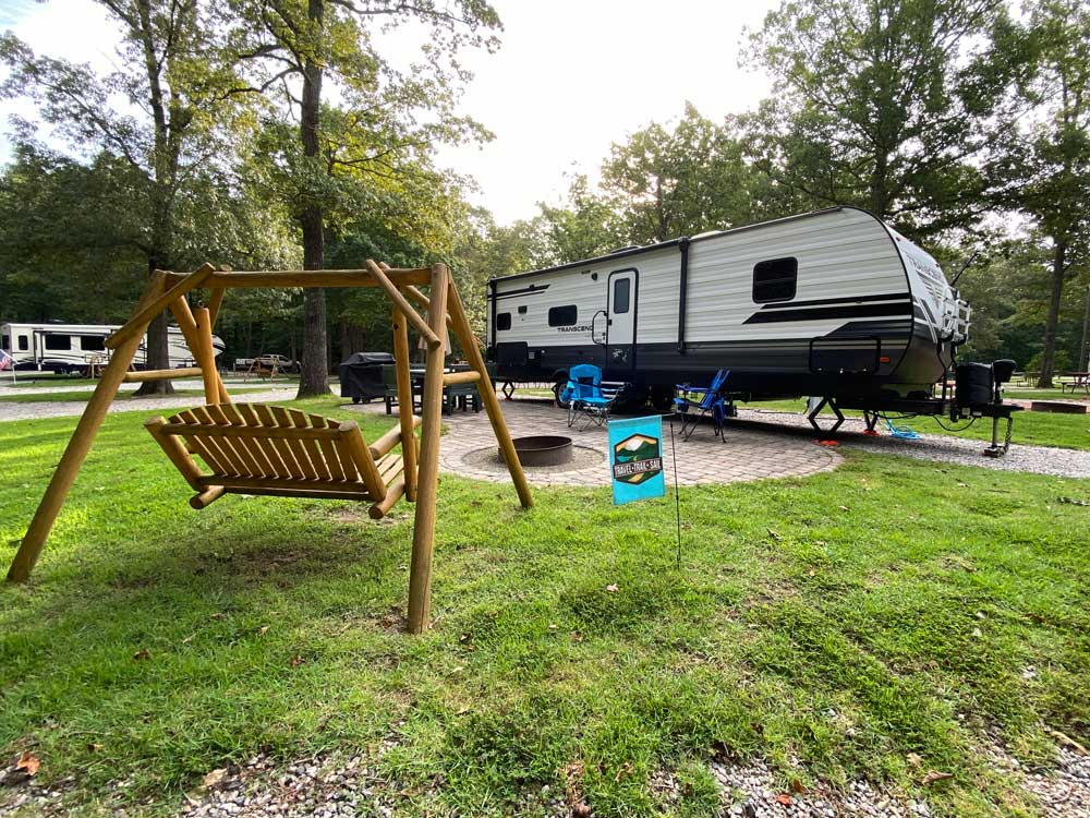 9 Steps to Finding a Great Campsite Like This Nice RV Campsite at the Williamsburg KOA