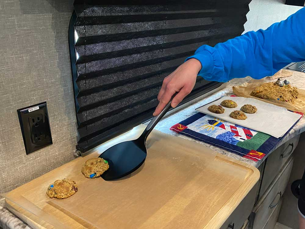 Place Monster Cookies on Wax Paper to Finish Cooling