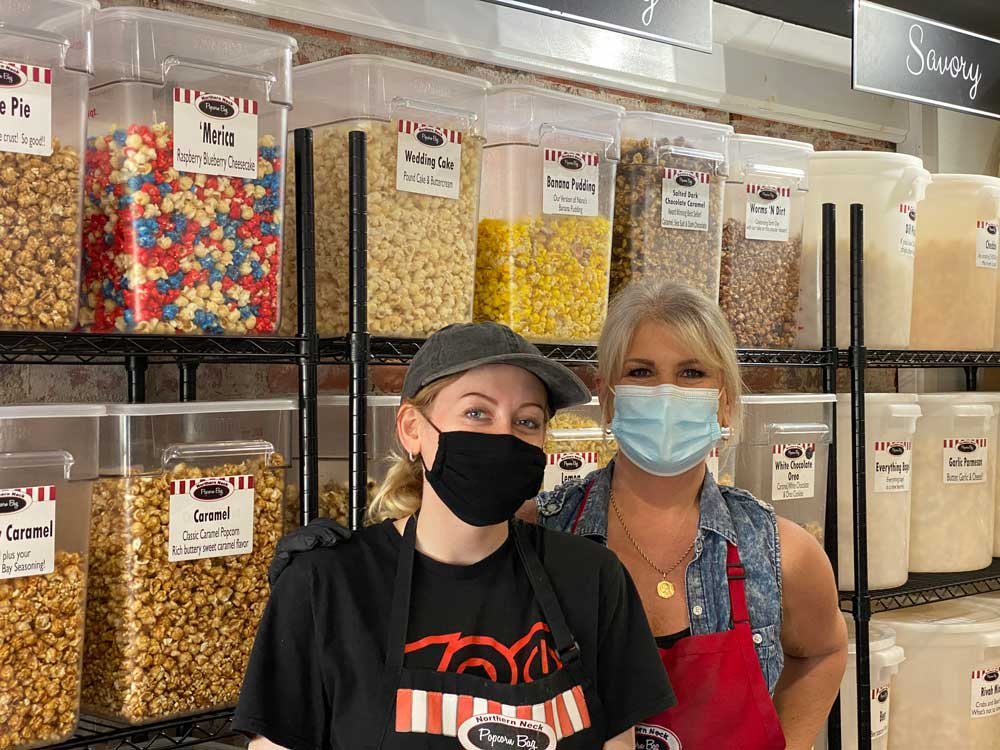 Northern Neck Popcorn Bag Friendly Staff Gloucester VA