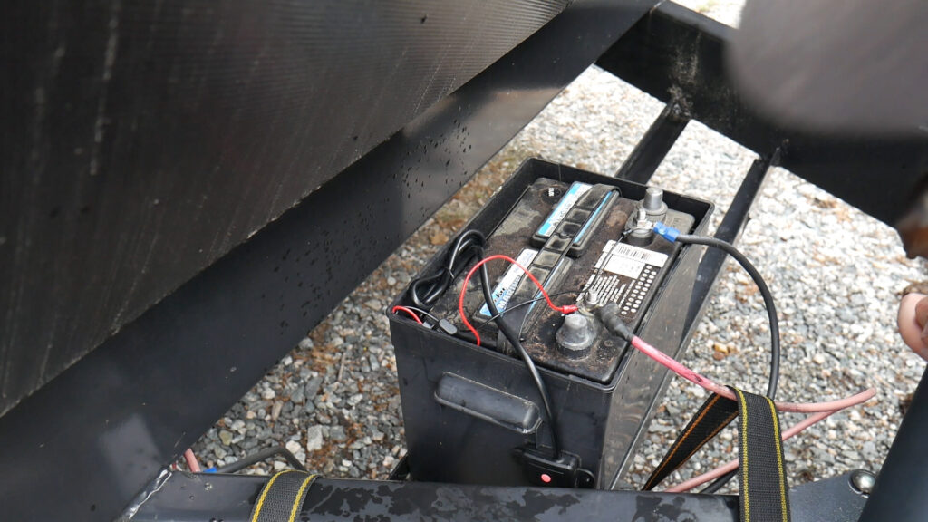TST 507 TPMS Sensor Repeater Installed at RV Battery