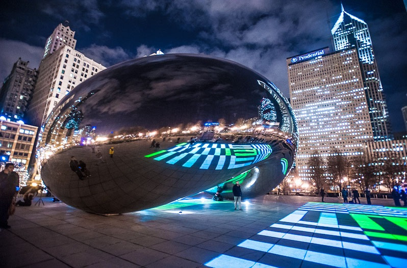 Luz, arte e deleite em Chicago