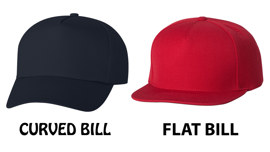 Curved Bill Hat & Flat Bill Hat