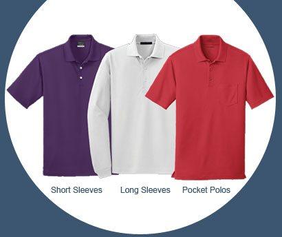 Short Sleeve Polos, Long Sleeve Polos & Pocket Polos