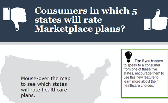 consumers in which 5 states will rate marketplace plans?