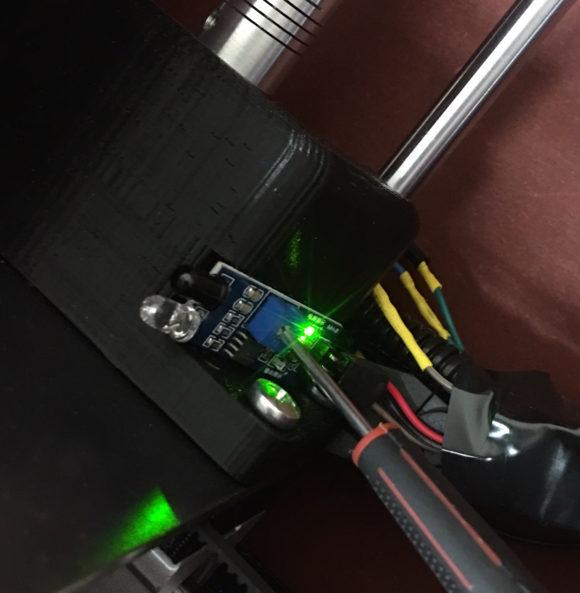 IR sensor top light