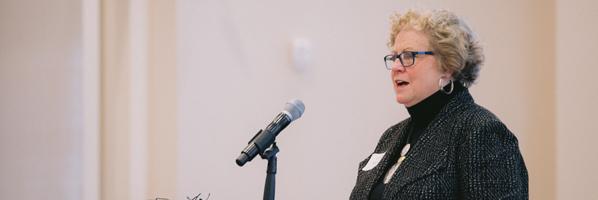 Susan Ingmire accepting the Entrepreneur Award