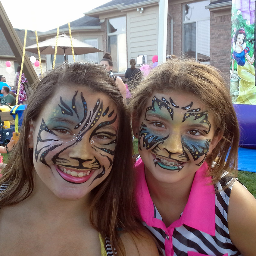 Mystical Tiger Face Painting