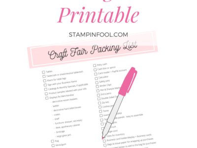 Craft Fair Packing List + Free Printable