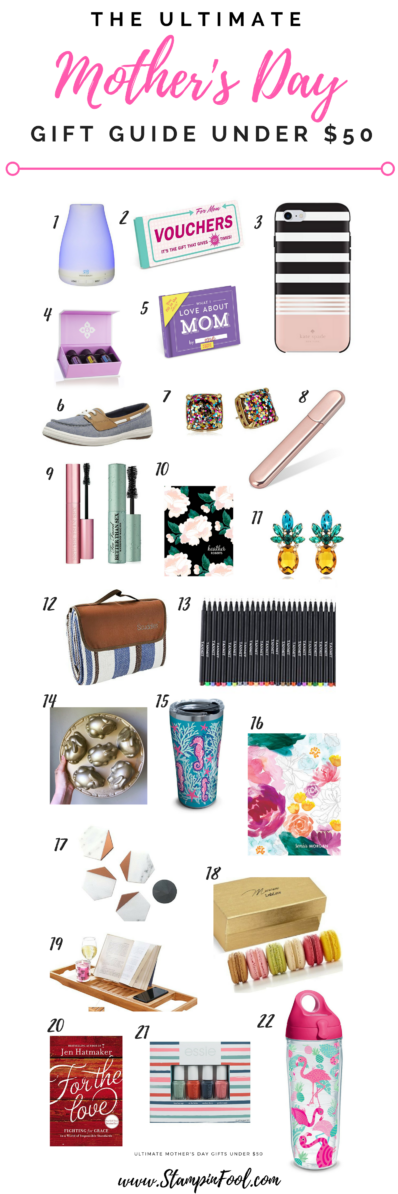 Ultimate Mother's Day Gift Guide Under $50 from StampinFool.com