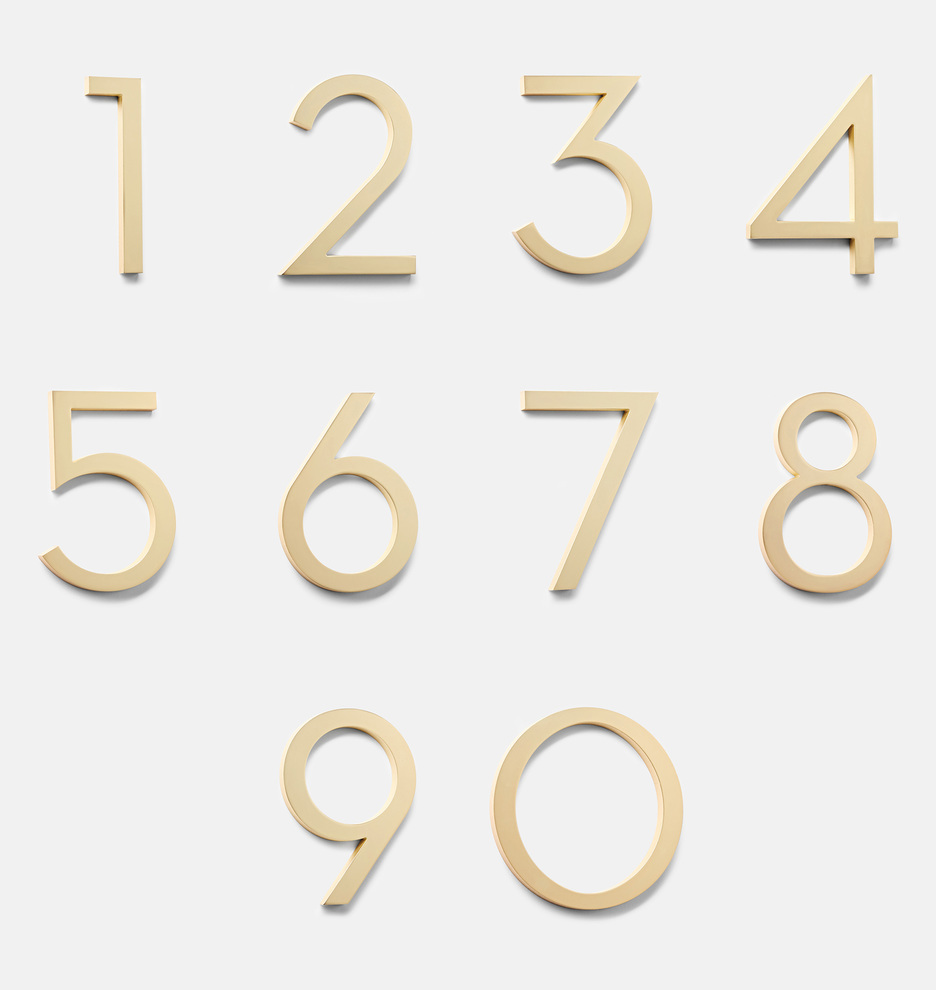 Rejuvination modern gold address numbers- Rejuvination modern gold address numbers- 9 Most Popular Modern House Numbers for 2021