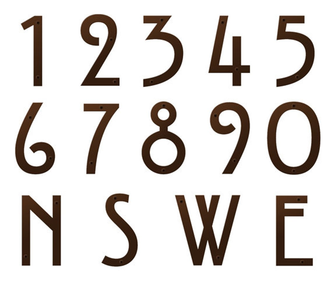 craftsman address numbers for house