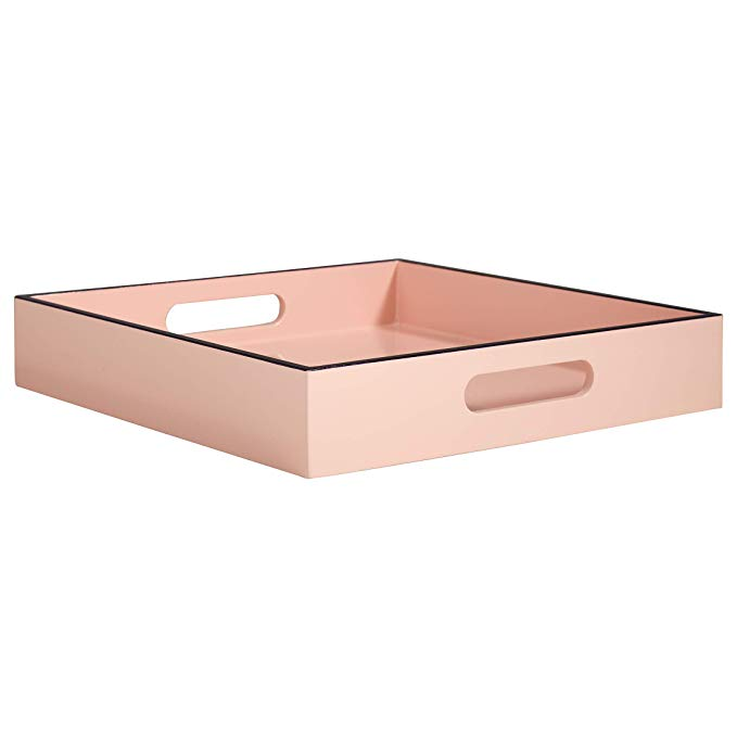 Favorite Jonathan Alder lacquered tray is perfect for coffee table styling