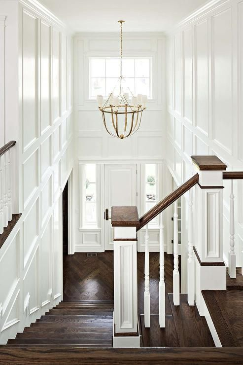 The perfect chandelier size for a two story foyer